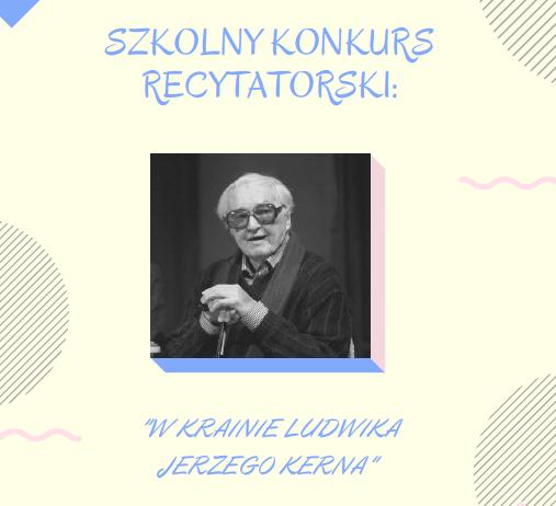 Szkolny Konkurs Recytatorski W Krainie Poezji Ludwika
